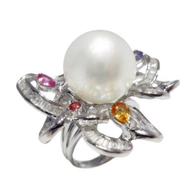 51005 brilliant 062ct sapphire 113ct pearl 13 14mm 2