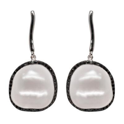 brilliant black 051ct pearls 13 14mm